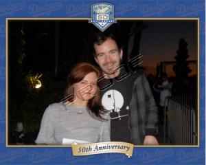 Juliana and Tim (Ink & Tank) @ Dodgers Vs Padres, 4/11/08